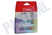 Inktcartridge CLI 521 Color pack C/M/Y