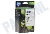 HP 350 351 Combi Pack Inktcartridge No. 350/351 Black+Color