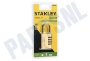 Stanley S742053  S742-053 Stanley Hangslot Combination Brass 4 cijferig 40mm Indoor
