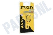 Stanley S742055  S742-055 Stanley Hangslot 3 cijferig Security Indicator Travel, 30mm, rood