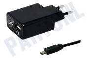 Typhoon 10185  Oplader Mini USB, 2A, 100cm Universeel Mini-USB