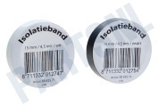 Q-Link 5421069  Tape 15mm 4.6M wit en zwart Isolatieband