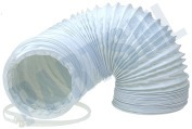 Slang 100 mm wit -PVC- 1,5 mtr.