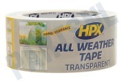 HPX AT4825 All Weather  Tape Transparant 48mm x 25m Reparatie Afdichtingstape, 48mm x 25 meter