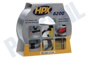 HPX CB5005  6200 Pantsertape Repair Zilver 48mm x 5m Duct Tape, 48mm x 5 meter