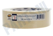 HPX  MA3850 Professional painterstape Cremewit 38mm x 50m Masking Tape, 38mm x 50 meter