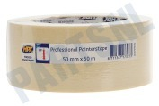 HPX  MA5050 Professional painterstape Cremewit 50mm x 50m Masking Tape, 50mm x 50 meter