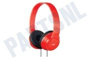 JVC HAS180RNE Hoofdtelefoon HA-S180-RN-E Powerful Bass with Deep Bass Port Fine Red iPod, iPhone en iPad