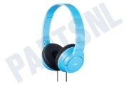 JVC HAS180ANEF Hoofdtelefoon HA-S180-AN-E Powerful Bass with Deep Bass Port Sky Blue iPod, iPhone en iPad