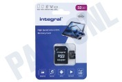 Integral INMSDH32G-100V10  V10 High Speed microSDHC Card 32GB Micro SDHC card 32GB 100MB/s
