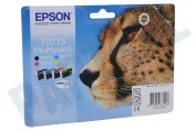 Epson 2666327 Epson printer Inktcartridge T0715 Multipack BK/C/M/Y D78, DX4050, DX4400