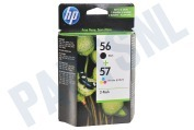 HP 56 57 Combi Pack Inktcartridge No. 56/57 Black+Color