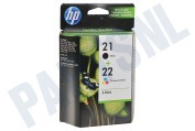 HP 21 22 Combi Pack Inktcartridge No. 21/22 Black+Color