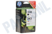 HP 338 343 Combi Pack Inktcartridge No. 338/343 Black+Color