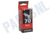 Lexmark 012AX970E  Inktcartridge No. 70 Black waterproof 3200 CJP
