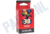 Lexmark 018CX033E  Inktcartridge No. 33 Color X7170 All-in-One