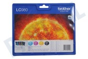 Brother 2075377 Brother printer Inktcartridge LC 980 Multipack DCP145C,165C,375CE,195C