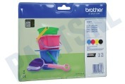 Brother 2455723 LC-221 Brother printer Inktcartridge LC221 Multipack DCP-J562DW, MFC-J480DW, MFC-J680DW, MFC-J880DW