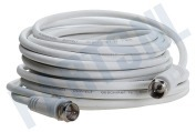 Universeel Q000282 Satelliet Doorvoerkabel F-Connector verlengkabel 10 meter Antennekabel