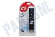 One For All URC7130  URC 7130 Essence 3 Universele Afstandsbediening geschikt voor o.a. TV, LCD, Plasma, SAT, Cable, DVB-T, DVD, Blu Ray