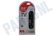 One For All URC6810  URC 6810 Basic Zapper Universele afstandsbediening geschikt voor o.a. TV, LCD, PLASMA, STB