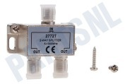 Easyfiks BME161  TV Splitter F-Connector Female - 2x F-Connector Female TV Splitter, 2-Weg, 5-1000 MHz