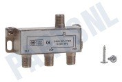 Easyfiks BME162  TV Splitter F-Connector Female - 3x F-Connector Female TV Splitter, 3-Weg, 5-1000 MHz
