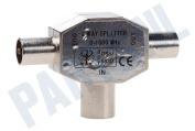 Coax Splitter, 2-Weg, IEC Contra Female - 2x IEC Male