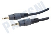 Q-Media BMG201  Jack Kabel 2x 3.5mm Stereo Male, 1.2 meter, 1.2 Meter, Zwart,