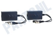 Easy4ip PASSIVE HDCVI  Passive HDCVI Balun with Power Coax naar UTP