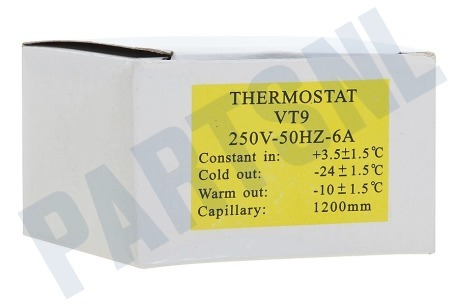 Hanseatic Koelkast Thermostaat nr 3 + aut. ontd.