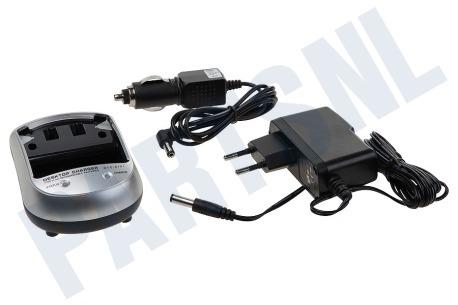 Universeel Digitale camera Oplaadset 12V en 220V, Basis unit