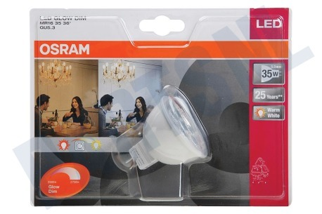 Osram  LED Glow Dim Superstar MR16 36 Graden Dimbaar 5,5W GU5.3