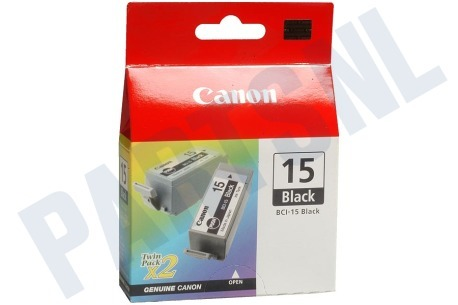 Canon Printer supplies Inktcartridge BCI 15 black twin pack