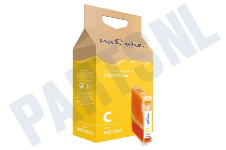 Wecare Canon printer Inktcartridge CLI 8 Yellow + chip