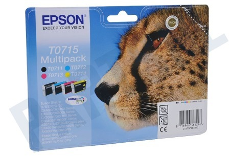 Epson Epson printer Inktcartridge T0715 Multipack BK/C/M/Y
