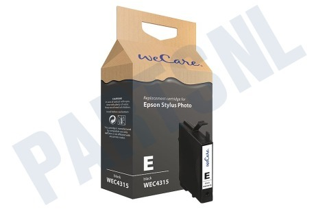 Wecare Epson printer Inktcartridge Zwart (met chip)