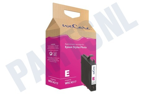 Wecare Epson printer Inktcartridge Magenta/Rood (met chip)