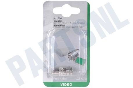 Deltac  F-connector adapt. f-connector-IEC