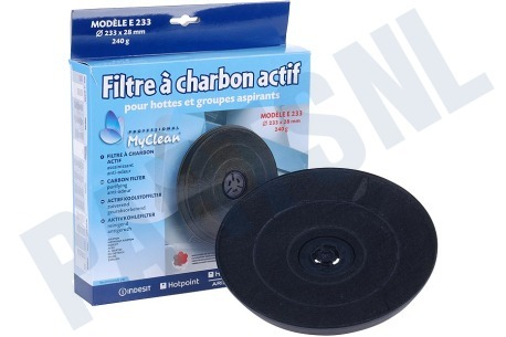 Ariston-Blue Air Afzuigkap 307666, C00307666 Filter Koolstoffilter 233x28mm