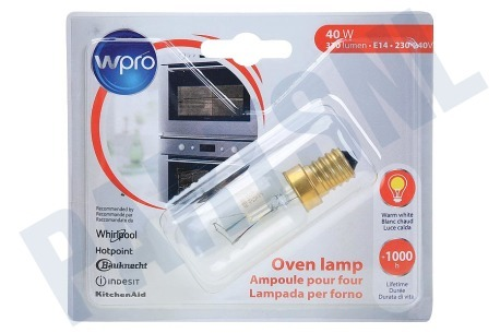Philips/Whirlpool Oven-Magnetron LFO135 Lamp Ovenlamp 40W E14 T29