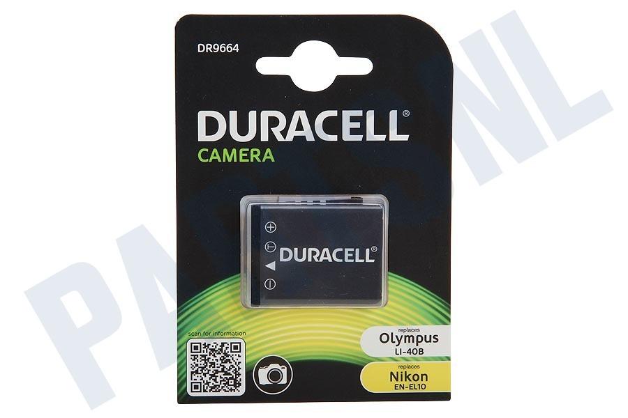 Duracell DR9664 Accu Nikon EN-EL10, Casio NP-80 Li-Ion 3.7
