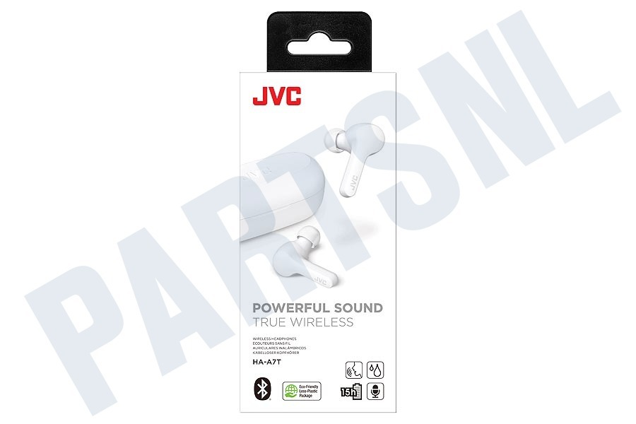 JVC  HA-A7T-WN True Wireless Headphones, White