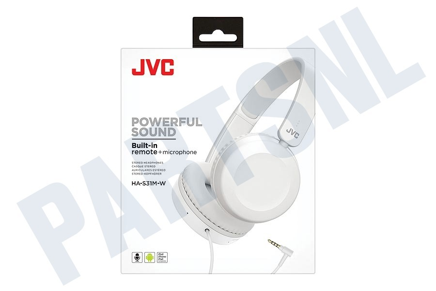 JVC  HA-S31M-W Powerful Sound Hoofdtelefoon Wit