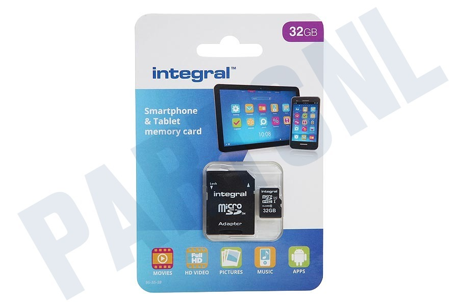 Integral  Memory card Smartphone & Tablet, Class 10 (incl.SD adapter)