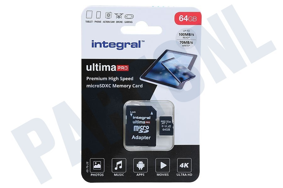 Integral  UltimaPro High Speed Micro SDXC Class 10 64GB