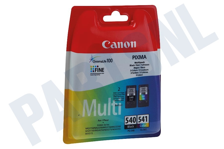 Canon  Inktcartridge PG 540 Black CL 541 Color Multipack
