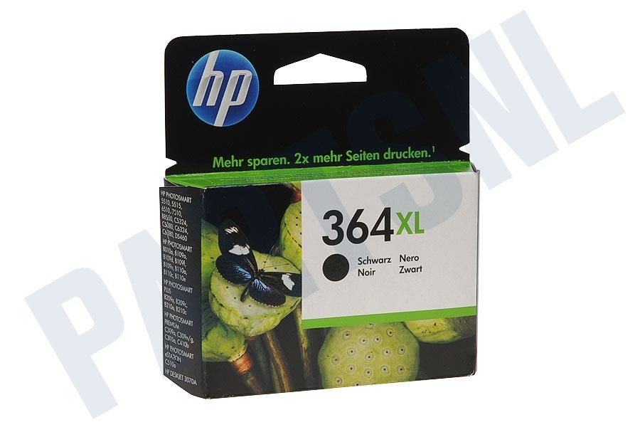 HP Hewlett-Packard HP printer HP 364 Xl Black Inktcartridge No. 364 XL Black
