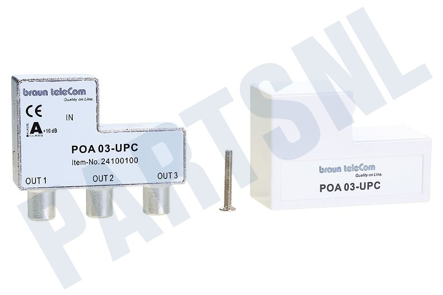 Braun Telecom  POA 3 UPC Verdeel element Push on IEC 3-weg splitter