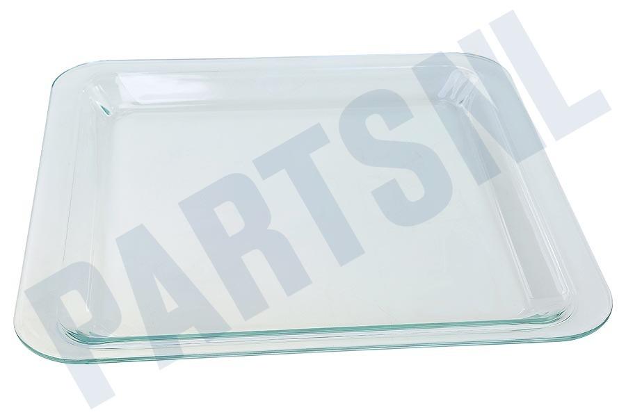 Kan Glas In De Magnetron.Bakplaat Schaal Glas 418x400mm